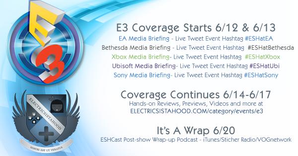 E3 2016 - ESH Coverage Schedule