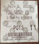 Kingsglaive ticket