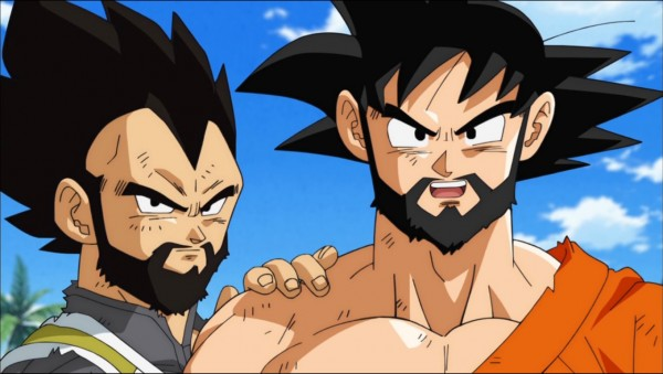 Goku and vegeta beards